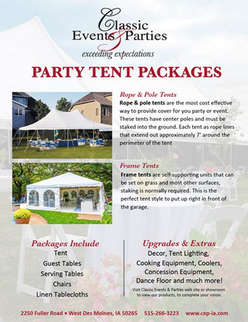 CEP Party Packages Cover