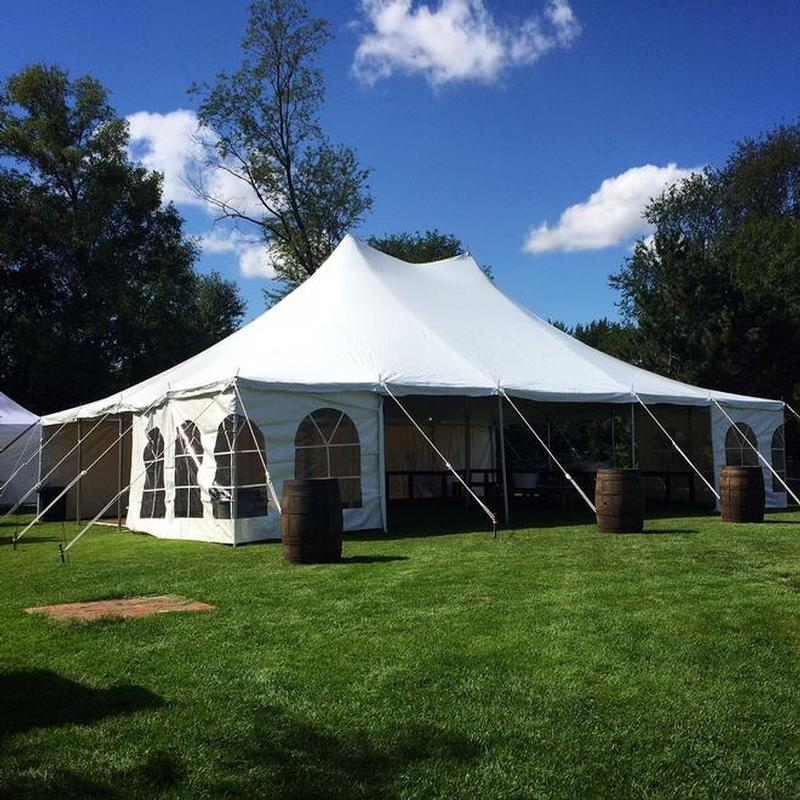 30' Wide Rope & Pole Tent | Rental Reception Party Banquet | cep-ia com