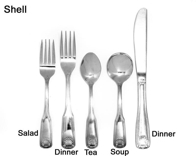 Shell Silverware Tableware Flatware Rental Wedding