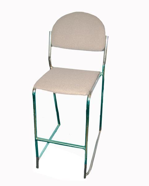 Sensational Gray Padded Bar Stool Bralicious Painted Fabric Chair Ideas Braliciousco